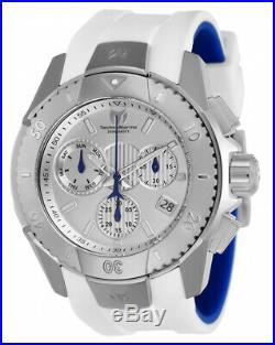 Technomarine TM-616001 Men's UF6 Collection Silver Swiss Watch White Strap