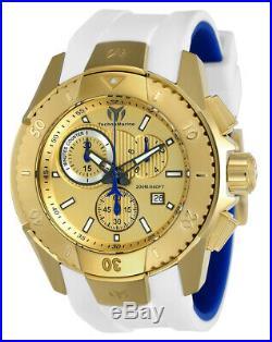 Technomarine TM-616004 Men's UF6 Collection Gold with White Strap Swiss Watch