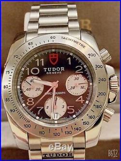 Tudor Sport Chronograph Rare Black Dial Collectible Discontinued model 20300