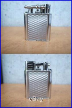 Vintage Dunhill UNIQUE SPORTS Gas turbo lighter Silver color good working withbox