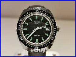 Vintage Rare Collectible Diver Style Czechoslovakia Men's Watch Prim Sport