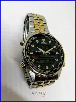 Vintage Seiko Duo-Display H021-7001 Super Rare Collection Watch