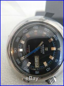 Vintage Tissot Navigator T12 COMPRESOR Watch BLACK VINTAGE COLLECTIBLE RARE Swis