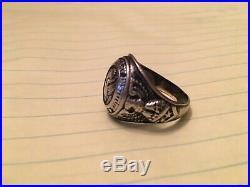 Vintage WW2 Era Virginia Military Institute VMI Sterling Silver Ring