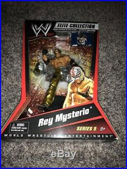 WWE MATTEL Elite Collection Series 5 Rey Mysterio Jr. Gold & Silver WCW 619 NEW