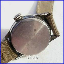 Working WW2 ELGIN 2109 military Army NAVIGATOR HACK WATCH A11 US NAVY ISSUE